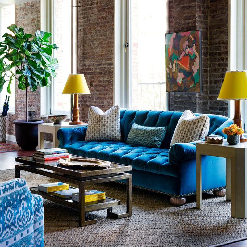 Жолто-сина комбинација во домот
