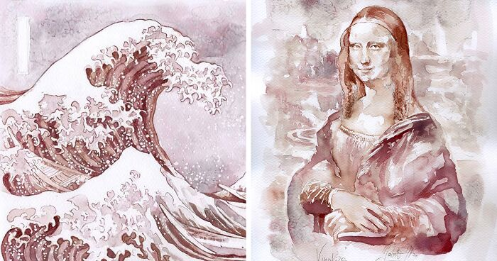 Српска уметница црта прекрасни уметнички дела со вино